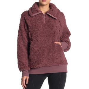 Z By Zella Power Up Faux Shearling Pullover Sz Sm